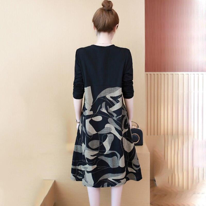 À 2018 Velours Grande Taille Chaud Mode Black Longue Velvet Manches Section Plus Femmes Féminine De Hiver black Nouvelle Robe Basant Longues Zs581 Automne rtshxQdC