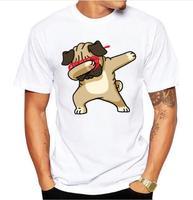 Summer Fashion Dabbing Pug T Shirt Dabbing Unicorn Cat Panda Tops Hip Hop Tee New Design