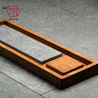 Zong bamboo / wood tea large black stone tea tray along the new Chinese manufacturers wholesale