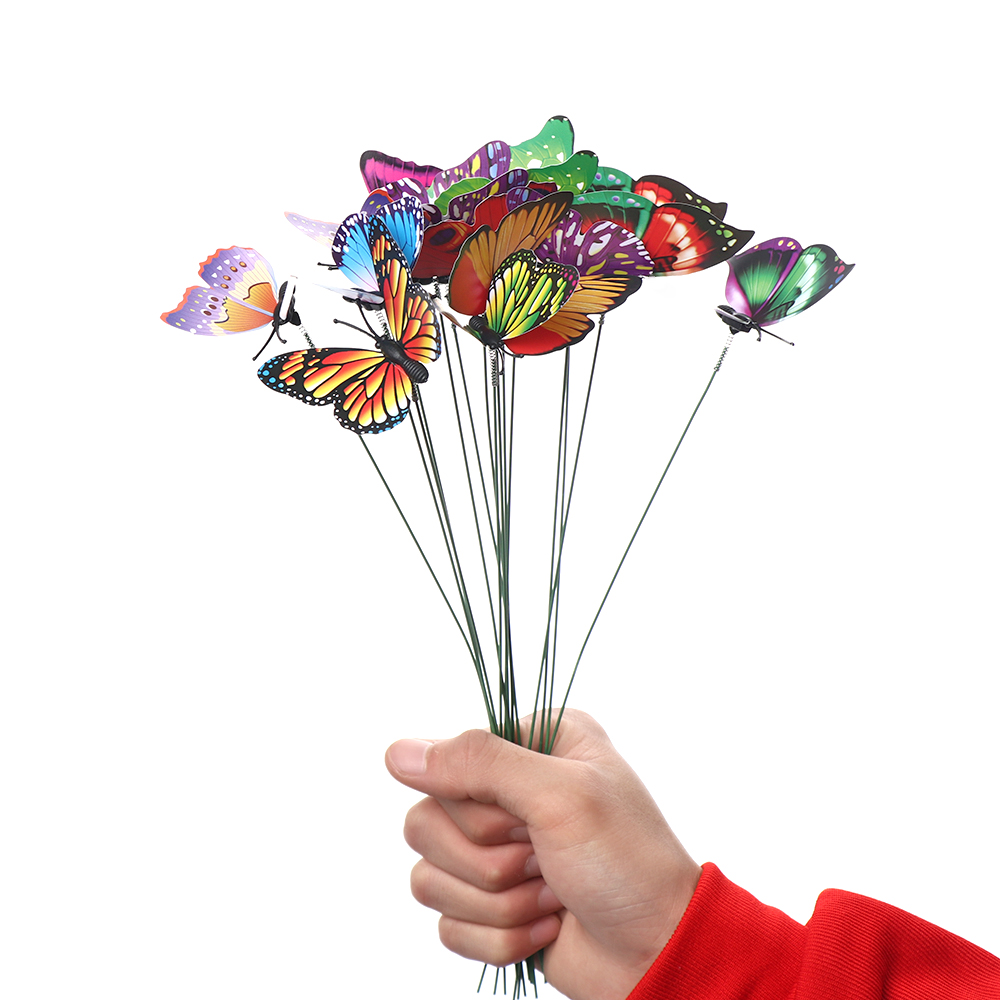 Butterfly with Rods Fake Butterflies Garden Decoration Simulation Color