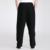 Negro Chino Tradicional de Los Hombres Pantalones de Algodón de Lino Kung Fu Wu Shu pantalón de Ocio Sueltos Pantalones Sml XL XXL XXXL 2601-1