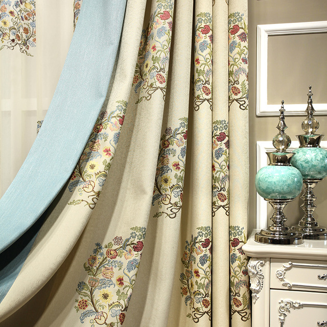 Modern Jacquard Curtains Custom Made Luxury Kitchen Curtains Bed Living  Room Papelaria Half Blackout Cortinas