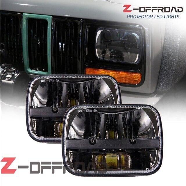5x7 vierkante led koplamp truck verlichting met Hi/Lo Beam rijden ...