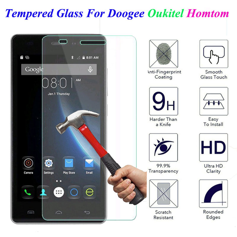 GerTong Tempered Glass For Doogee X5 Max Pro X6 X3 F5 Y100 Y300 Oukitel K6000 <font><b>Homtom</b></font> HT3 <font><b>HT6</b></font> HT7 Pro HT17 <font><b>Screen</b></font> Protector Film image