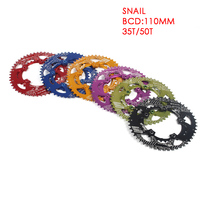 SNAIL Road Bike Chainwheel 35/50T Aluminum 7075 CNC 110 BCD Oval Bicycle Ellipse Climbing Power Chainring Plate Bike Parts