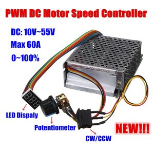 Image 3 - DC10 50V 60A 3000W הפיך מנוע DC מהירות בקר PWM בקרת 12V 24V 36V 48V קדימה לעצור היפוך בלם תצוגה דיגיטלית