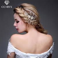 CC Jewelry Comb Hair Combs Pearl Jewelry Bride Crown Tiara Wedding Hair Accessories For Women Party