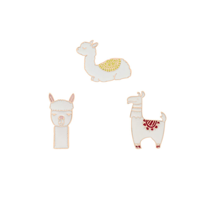 Cute Animal Sheep Enamel Pins for Women Girl Icons Collar Brooches Jewelry Lapel Clothing Bag Accessories Enamel Pin Funny show