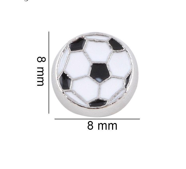 Free Shipping, 20pcs Enamel Soccer Floating Charms Fit For Glass Living Memory Lockets, Gifts