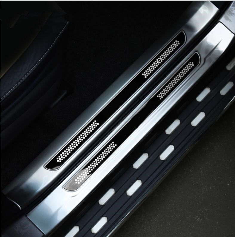 Для Toyota RAV4 RAV 4 2013-2018 Нержавеющаясталь внутри + за пределами порога педаль протектор Накладка крышки планки интимные аксессуары