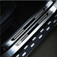 Für Toyota RAV4 RAV 4 2013 2018 Edelstahl Innen + Außerhalb Tür Sill Schutz Pedal Scuff Platte Abdeckung trimmt Zubehör|Nerf Bars & Trittbretter|Kraftfahrzeuge und Motorräder -