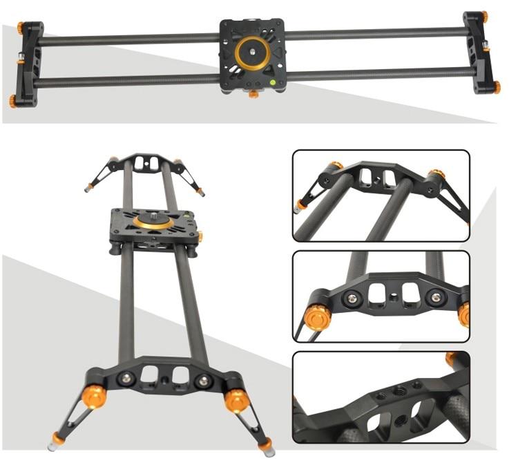 Ashanks 100cm 6 Bearings Carbon Fiber DSLR Camera DV Slider Track Video Stabilizer Rail Track Slider For DSLR or Camcorder ashanks mini carbon fiber handheld
