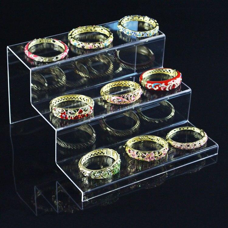 3 couches Transparent acrylique bijoux Stand Bracelet collier support de montre présentoir jouet Collection Stand