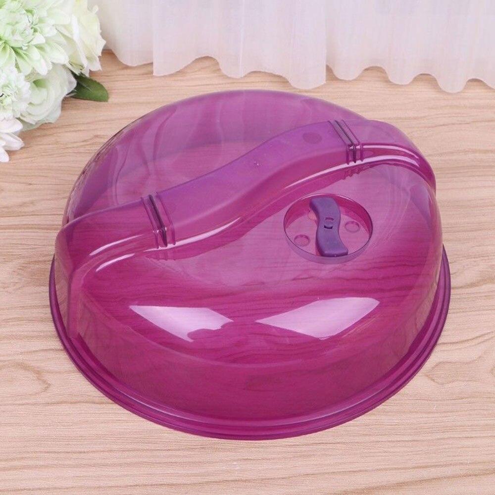 Холодильник накладка микроволновый нагрев крышкой практическое 26,5*26,5*8 см прозрачный фиолетовый зеленый Кухня инструменты кухонные принадлежности - Цвет: Purple