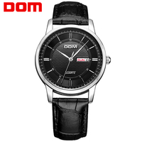 DOM Men Mens Watches Top Brand Luxury Quartz Fashion Belt Watch Business Reloj Hombre M 11