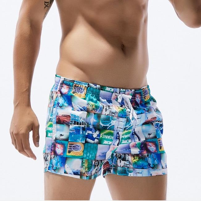f40f585a8 Summer Brand Board Short Men Swimwear Swim Shorts Man Bermuda Surf Shorts  Quick Dry Polyester Male Beach Sea GYM Sport Shorts-in Surfing & Beach  Shorts from ...