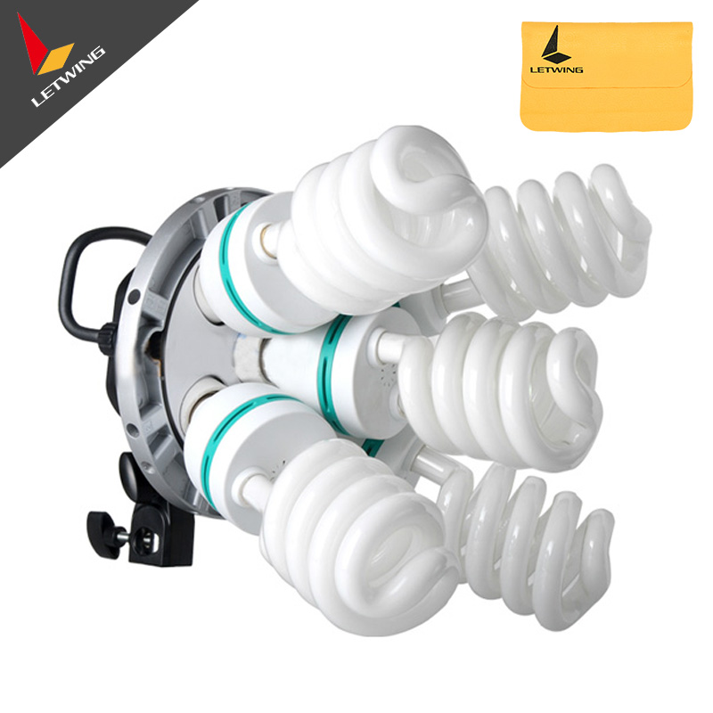 ФОТО Godox TL-5 5 in1 Bulb Head Multi-Holder Tricolor Continuous Light Camera Photography Lighting