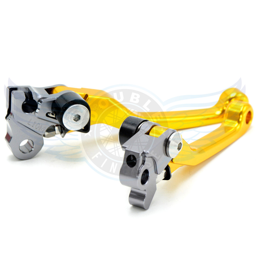 ФОТО golden color motorcycle accessories Pivot Brake Clutch Levers cnc brake clutch lever For Kawasaki KX125  2006 2007 2008