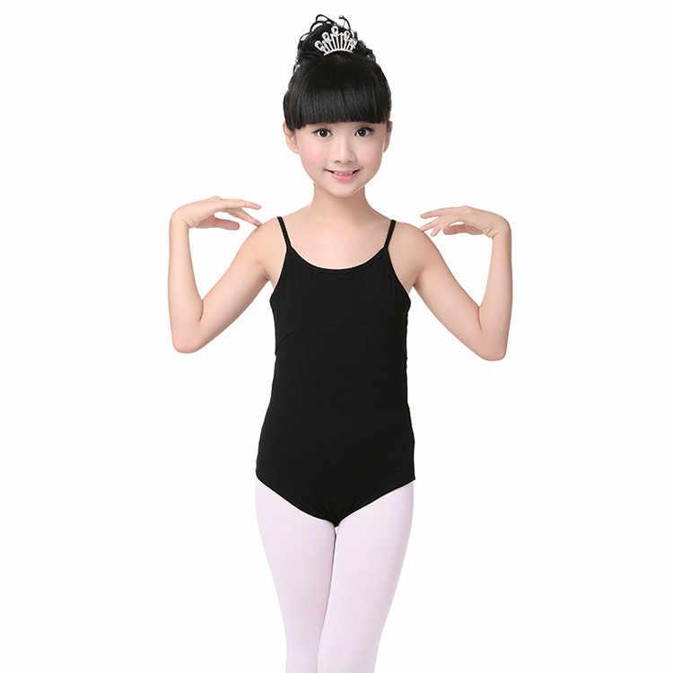 Trẻ em trẻ em Bodysuit Dancewear Không Tay Thể Dục Dụng Cụ Múa Ba Lê Leotards cho Cô Gái Trang Phục Múa Ba Lê Ba Lê Jumpsuit đối với Trẻ Em Màu Hồng Màu Đen