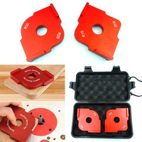 1Set Radius Quick Jig Router Table Bit Corner Jig Templates With Box Mayitr For Woodworking Tools