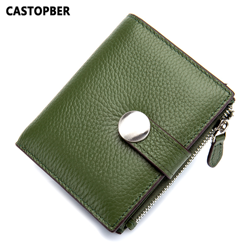 Fashionable Short Wallet Women Genuine Leather Top Layer Cow Leather Mini Coin Purse Ladies Wallets Small Holder Designer Famous simline fashion genuine leather real cowhide women lady short slim wallet wallets purse card holder zipper coin pocket ladies