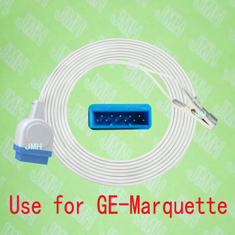 Compatible with GE Marquette tram 250 Pulse Oximeter monitor , Child and Adult ear or Animal tongue clip spo2 sensor.11PIN.