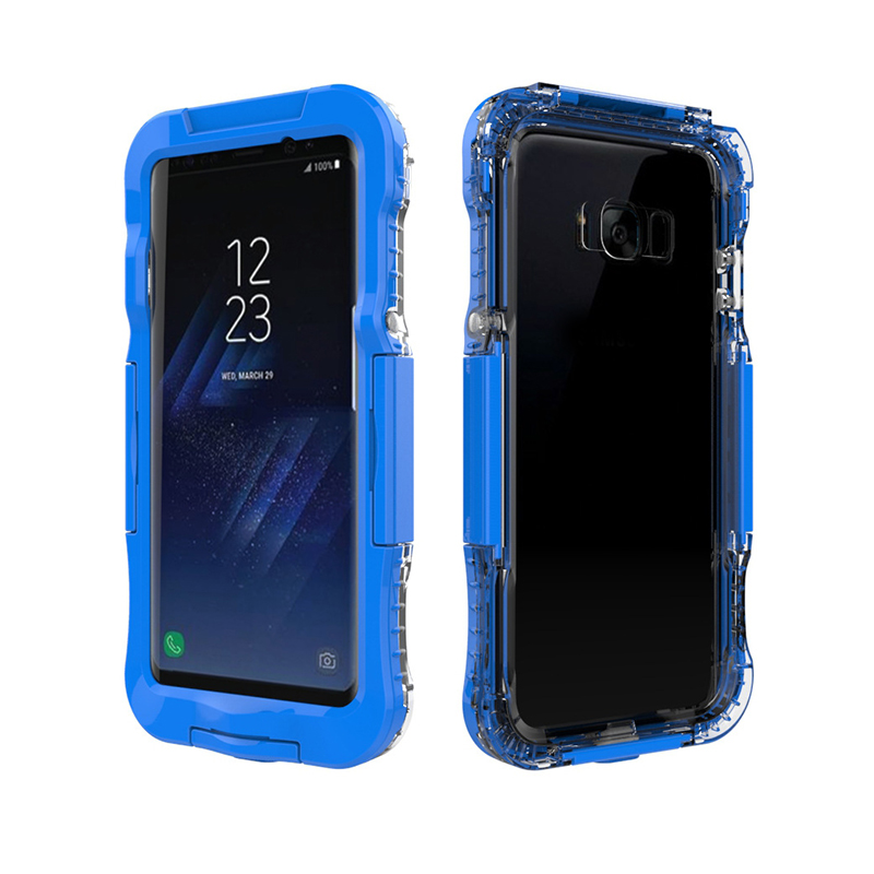 AILKIN Newest Waterproof Case for Samsung Galaxy S8 S8 Plus Kickstand Armor Cover for SM-S8 Plus Swimming Phone Case Protector (1)