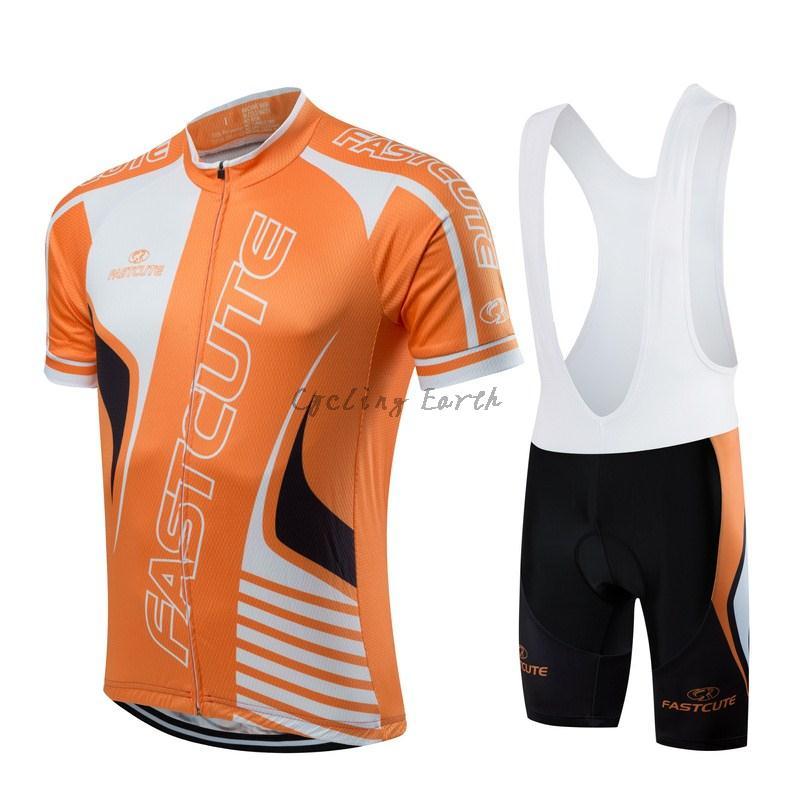 FASTCUTE 2016  5 Pro breve manicotto che cicla bib camicia set vestiti di  sport jersey MTB bici ropa ciclismo bd97f13b203