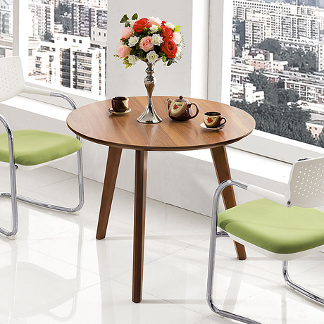 Cafe Tables Furniture Round Table Coffee Be Oak Solid Wood Minimalist Modern Desk Office Home 80 75cm In Café From