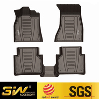Car floor mats For Audi A3/Q3/Q5/Q7 with 3w Customized Special Rubber tpe,black
