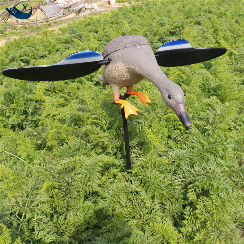 ФОТО New Technology Dc 6V/12V Remote Control Duck Motor Decoy Trap Duck Decoys With Magnet Spinning Wings