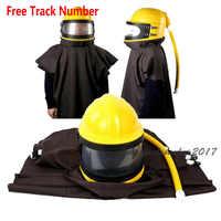 Labor Protection AIR FED Supplied Safety Sandblast Helmet Sand Industry Blast Abrasive Hood Protector