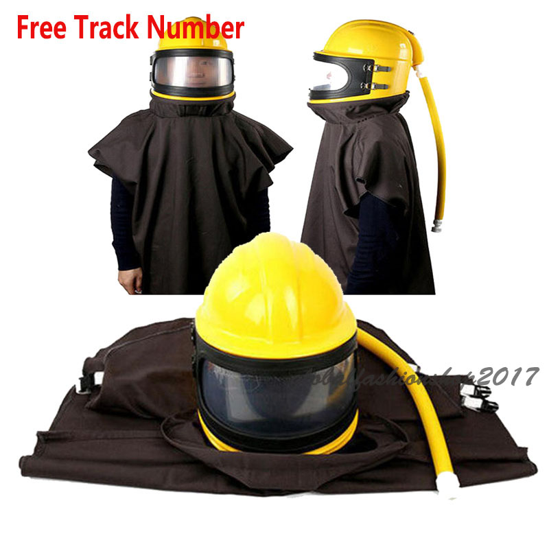 Labor Protection AIR FED Supplied Safety Sandblast Helmet Sand Industry Blast Abrasive Hood Protector l9930 automotive computer board page 1