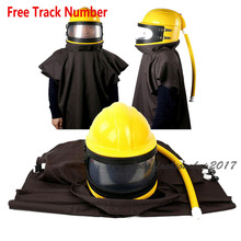 Labor Protection AIR FED Supplied Safety Sandblast Helmet Sand Industry Blast Abrasive Hood Protector fed cup final