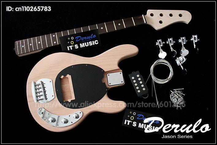 Kit guitare basse électrique bricolage 5 cordes MX-111 acajou massif boulonné