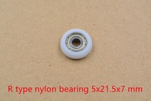 3d printer pulley 5mmx21.5mmx7mm nylon plastic pulley spherical arc ball bearing include 625ZZ bearing R5x21.5×7 1pcs