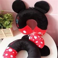 Cartoon Mickey Mouse U-shaped Neck Pillow Office Lunch Break Portable Cushion Men  Women Aircraft Car Travel Gift