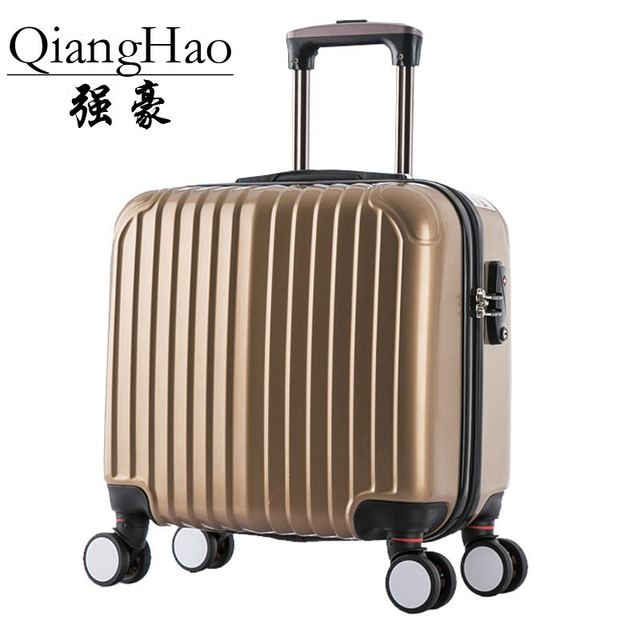 QiangHao!16 inch PC Travel Suitcase Spinner Rolling Luggage Trolley Boarding bag upgrade thicken notebook laptop case  Luggage