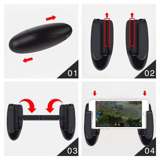 Mobile Phone Game Controller For PUBG Mobile Trigger Aim Button L1R1 Shooter Joystick For IPhone Android Phone GamePad Accesorio