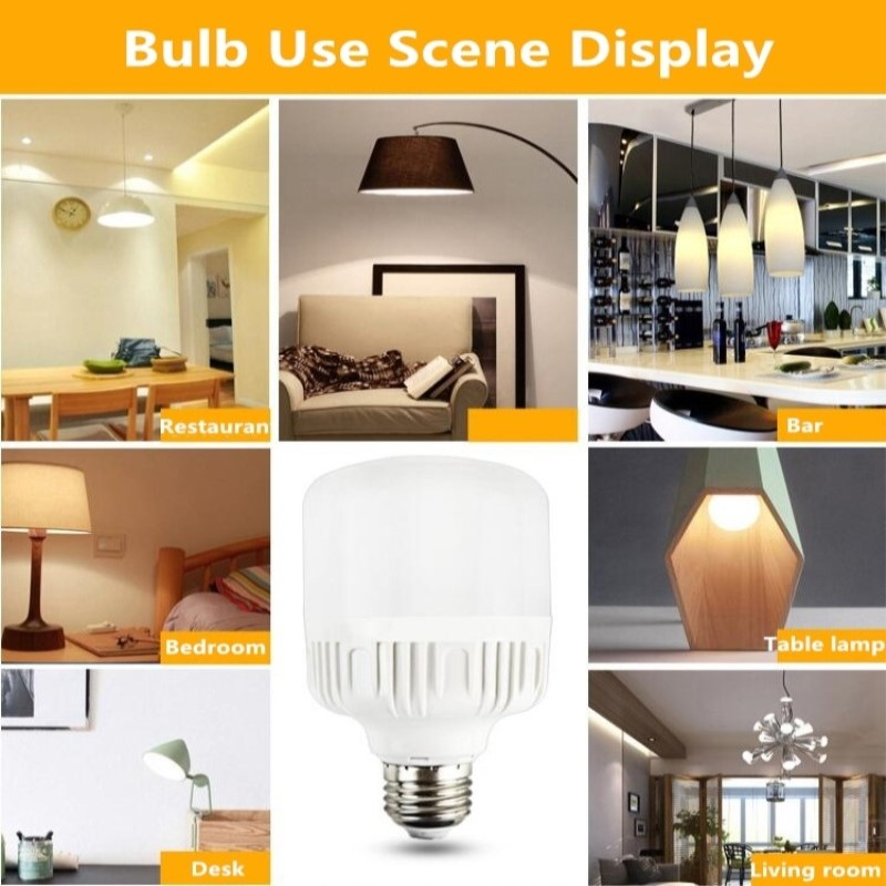 Купить с кэшбэком Hot power LED Bulb Lamp E27 220V-240V Light Bulb Smart IC  Power 5W 10W 15W 20W 30W 40W 50WHigh Brightness Lampada LED Bombillas