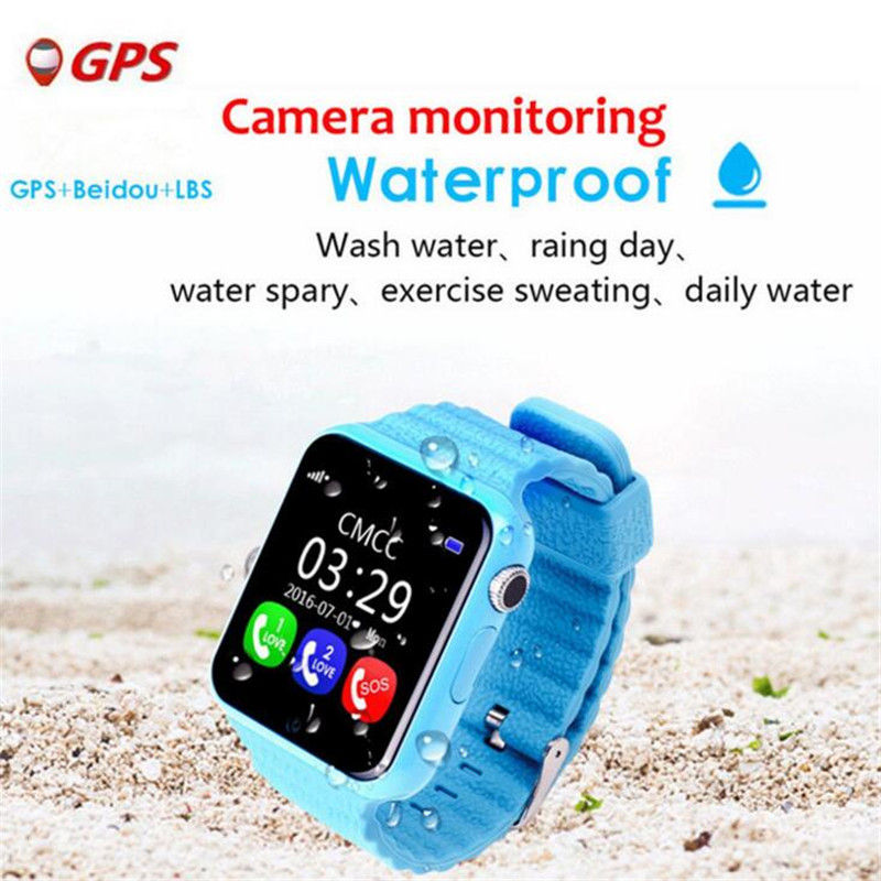 Children Baby GPS Smart Watch For Kids Safe SIM Wifi Touch Screen SOS Call Location Tracker Waterproof Relogio Menino Clock F26 2018 new gps tracking watch for kids waterproof smart watch v5k camera sos call location device tracker children s smart watch