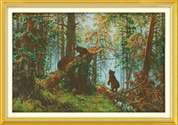 The Pine Forest Morning Counted Cross Stitch 11CT Printed 14CT Set DIY Chinese Cotton Cross Stitch