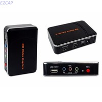 HDMI Audio Video Game Capture Box HDMI YPbPr Recorder One Clink Record Into USB Flash For
