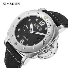 лучшая цена KIMSDUN Automatic mechanical Watches Men Business Wristwatch Leather Fashion Waterproof Male Clock Relogio Masculino new 2019