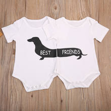 71600ca04 Dropshipping 2017 Summer 2pcs Newborn Baby Boy Girl Matching Clothes Romper  Tops+Striped Pants Outfits