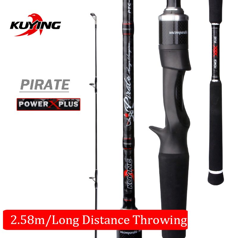 KUYING Pirate Casting Spinning M 2.58m 86 Lure Fishing Rod Fish Cane Pole Stick FUJI Spare Parts Carbon Fiber Medium FastKUYING Pirate Casting Spinning M 2.58m 86 Lure Fishing Rod Fish Cane Pole Stick FUJI Spare Parts Carbon Fiber Medium Fast