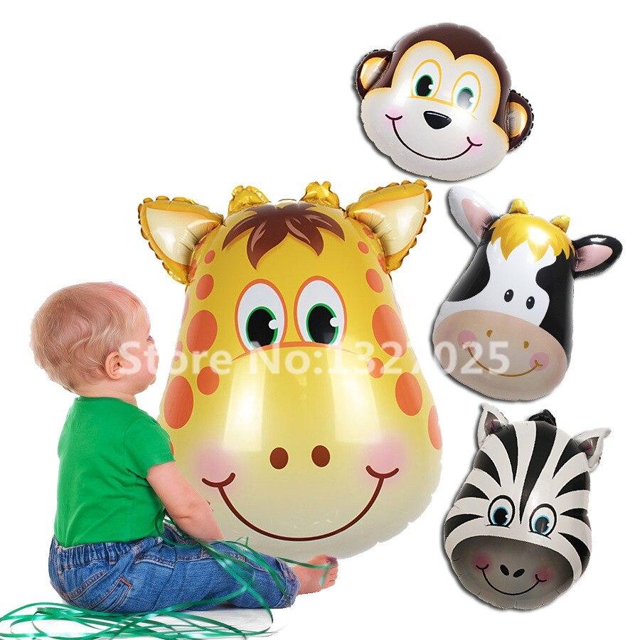 Giraffe Zebra Cow Monkey Birthday Party Animal pet monkey balloon for children's toys baby toy globos wedding party decoration