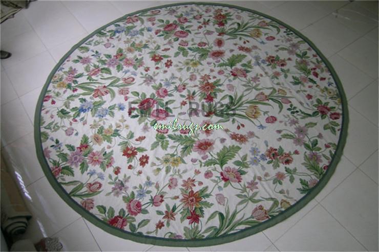 100 Wolle Handgenht Nadel Teppiche Needleopint 183 CM X 6 Englisch Garten Gc3nee94