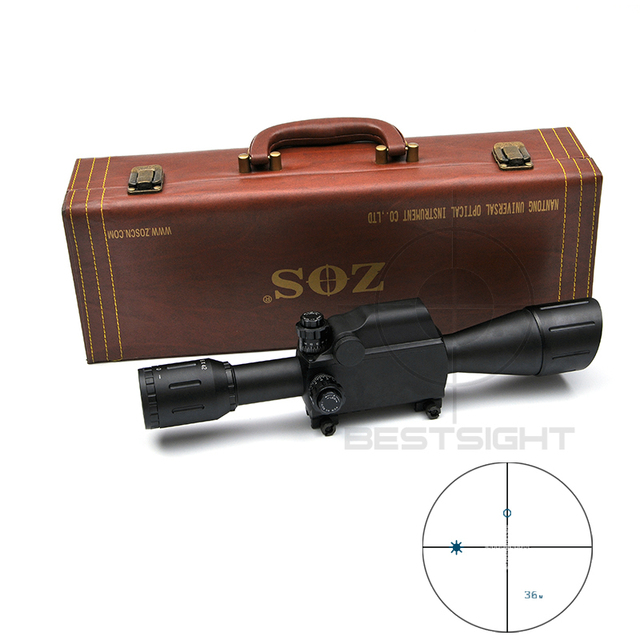 Zos 6x42 Military Tactical Scope 30mm Measure Distance Hunting Optics