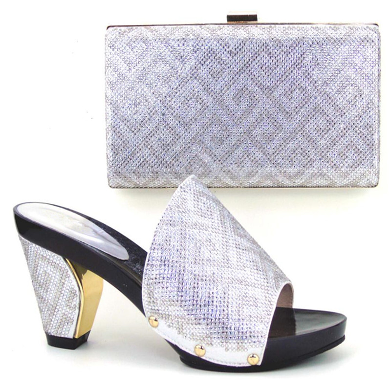 ФОТО Hot sale!!!2015 new arrival wedding shoes and matching bags to match for sexy lady,Italian shoes and bag set !MWE1-35